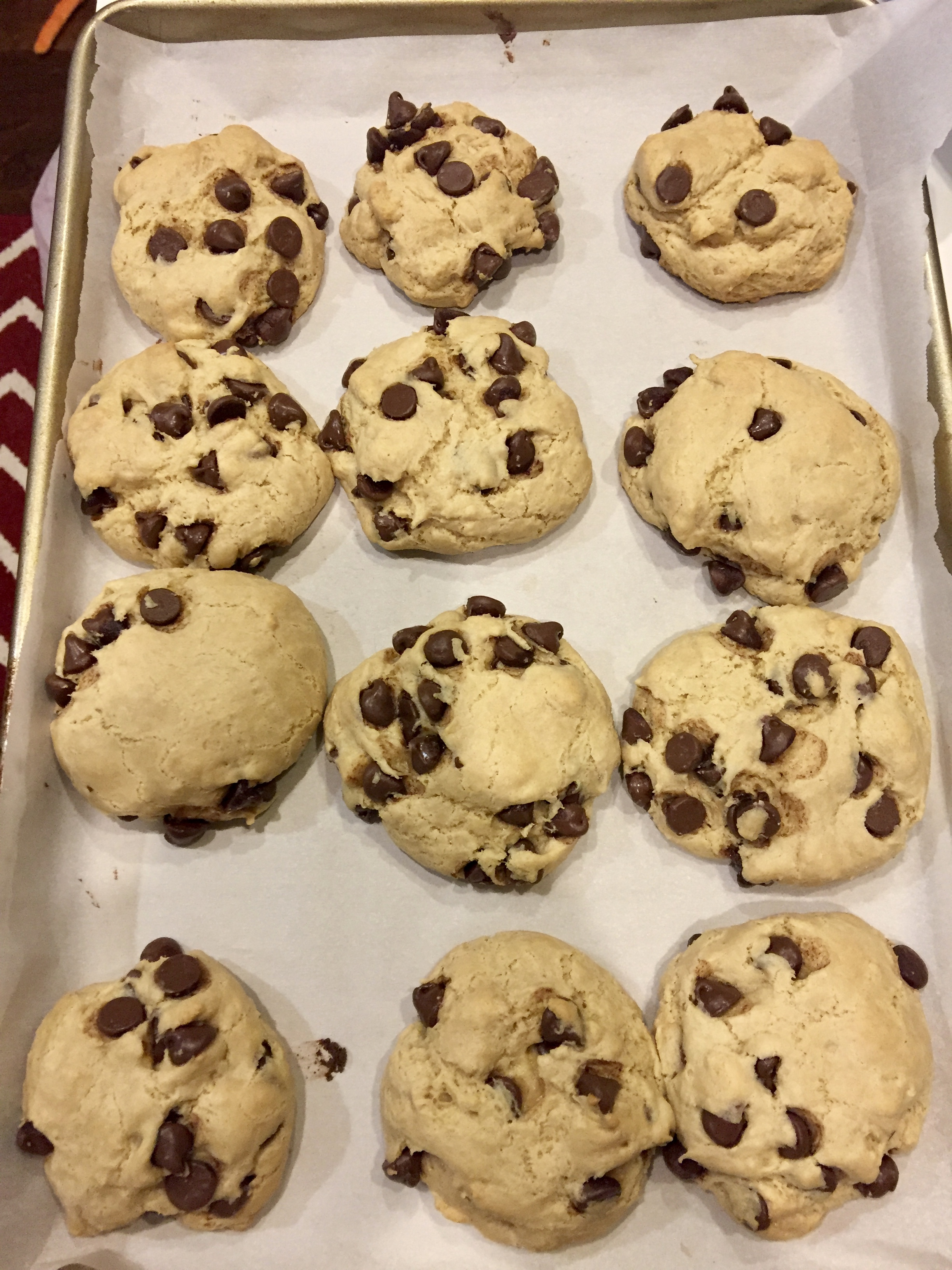 Ooey Gooey GF Chocolate Chip Cookies – Radiant JOY